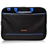 ULTIMATE Tas Laptop Double Gerbiro Blue Line 14 Inch - Black - Notebook Carrying Case