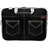 ULTIMATE Tas Laptop Double Jeans Back 12 Inch - Black - Notebook Carrying Case
