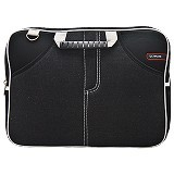 ULTIMATE Tas Laptop Double Jeans Front 12 Inch - Black - Notebook Carrying Case