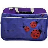 ULTIMATE Tas Laptop Double Lady Bug 12 Inch - Purple - Notebook Carrying Case
