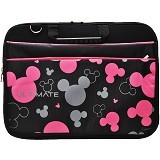 ULTIMATE Tas Laptop Double Mickey Head 12 Inch - Black - Notebook Carrying Case