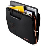 ULTIMATE Tas Laptop Double Slim Logo 12 Inch - Black - Notebook Carrying Case