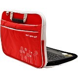 ULTIMATE Tas Laptop Double Triple Flower 12 Inch - Red - Notebook Carrying Case