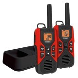 UNIDEN GMRS/FRS Two-Way Radio with Charging Kit [GMR3055-2CK] - Red - Handy Talky / Ht