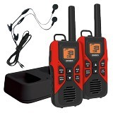 UNIDEN GMRS/FRS Two-Way Radios with Charging Cradle and Earset [GMR3055-2CKHS] - Red - Handy Talky / Ht
