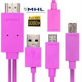 UNIQUE Cable HDMI to Micro USB Kit [CA-HDMI-M-USB-P] - Pink - Cable / Connector HDMI