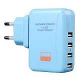 UNIQUE Charger 4-Port Xtreme Power [CH-U-PU880-BL] - Blue - Universal Charger Kit