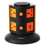 UNIQUE Charger Multi Function Power Juice [CH-U-PJ-B-OR] - Black Orange - Stop Kontak Out Bow
