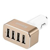 UNIQUE Charger USB Car 4-Port [CH-U-PU734-GL] - Gold - Car Kit / Charger