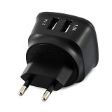 UNIQUE Charger USB Dual Port E-Strong [CH-U-ES-D05-B] - Black - Universal Charger Kit