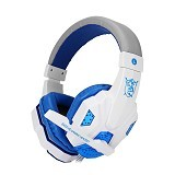 UNIQUE Headphone Plextone Gaming with LED [PC780] - White (Merchant) - Gaming Headset