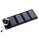 UNIVERSAL Foldable Solar Powerbank 7W with 4 Solar Panel [S07] - Black - Portable Charger / Power Bank