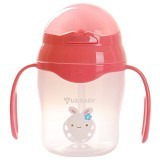 US BABY Straw Training Cup 150ml [104299-pink] - Pink - Perlengkapan Makan dan Minum Bayi