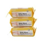 US BABY Wipes for Mouth, Hands and Face 30 Sheets 3 Packs [US-W-30] - Baby Wipe / Tissue Basah