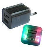 USB CHARGER Led 1A & 2A - Charger Handphone