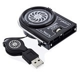 USB Mini Vacuum Cooler Fan [NC738] - Black - Notebook Cooler