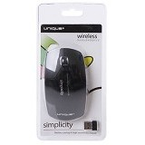 UNIQUE Wireless Mouse Unique Simplicity Series 01 [WM-U-SS01-B] - Black - Mouse Basic