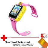 UWATCH 3G GPS Tracker & Telkomsel Sim Card [uwa-030241-pnk] - Pink (Merchant) - Gps & Running Watches