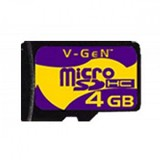 V-GEN Micro SDHC 4GB - Micro Secure Digital / Micro SD Card