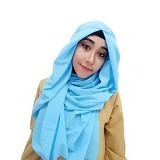 VELLISH.CO Jilbab Instan Hanatajima - Soft Blue (Merchant) - Hijab