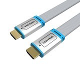 VENTION Kabel High Speed Flat Metal Braided HDMI 2m [H450HDF-S0200] (Merchant) - Cable / Connector Hdmi