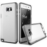 VERUS Case Crystal Bumper for Samsung Galaxy Note5 - Steel Silver - Casing Handphone / Case