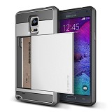VERUS Damda Slide Samsung Galaxy Note 4 - Light Silver - Casing Handphone / Case