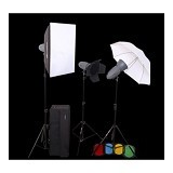 VISICO Plus Novel Kit Softbox VT-200 + Barndoor 3 Head - Softbox and Umbrella