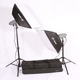 VISICO Plus Softbox Kit 2 Flash Head VL-400 - Lighting System Kit
