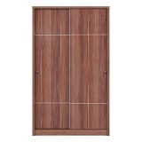 VITTORIO Lexus Wardrobe Sliding 121 SL [PRD/0000005099] - French Walnut - Drawer