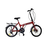 "VIVA Quantum 20"" Shimano Alloy Folding Zero 39 14sp - Red - Sepeda Lipat / Folding Bike"