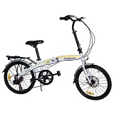 VIVA Quantum 20 inch Shimano Alloy Folding Zero 45 7sp - White - Sepeda Lipat / Folding Bike