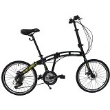 VIVACYCLE Comet 20 - Black (Merchant) - Sepeda Lipat / Folding Bike