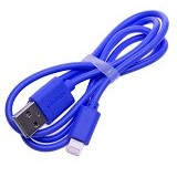 VIVAN Cable Data for iPhone 5 [CBL80] - Blue - Cable / Connector Usb