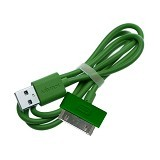 VIVAN Kabel Data Color iPhone 4 [CBI80] - Green - Cable / Connector Usb