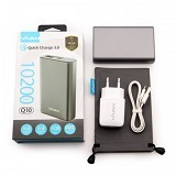 VIVAN Power Bank 10200 mAh [Q10] - Iron Gray - Portable Charger / Power Bank