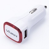 VIVAN USB Car Charger [CC06] - Red (Merchant) - Car Kit / Charger