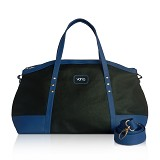 VONA Ete Top-handle Bag - Black/Cobalt - Tas Tangan Wanita