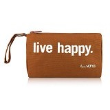 VONA Live Happy Travel Kosmetik Bag - Brown (Merchant) - Tas Kosmetik / Make Up Bag