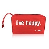VONA Live Happy Travel Kosmetik Bag - Red (Merchant) - Tas Kosmetik / Make Up Bag