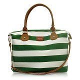 VONA Nautical Carriole - Green/White - Shoulder Bag Wanita