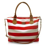 VONA Nautical Carriole - Red/White - Shoulder Bag Wanita