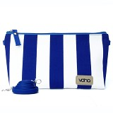 VONA Nautical Costa Clutch - Blue/White - Clutches & Wristlets Wanita