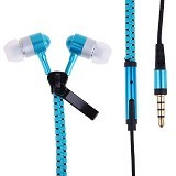 VPS Headset Zipper Stereo Color - Blue - Earphone Ear Monitor / Iem