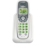 VTECH Cordless Phone with Caller ID/Call Waiting [CS6114] - White Grey - Wireless Phone
