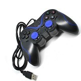 VZTEC USB Double Shock Controller Game Pad Joystick Model [VZ-GA6008] - Blue (Merchant) - Gaming Pad / Joypad