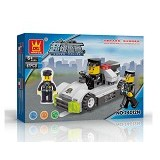 WANGE Bricks Police Car [24012N] - Building Set Occupation