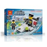WANGE Bricks Police Boat [24013N] - Building Set Occupation