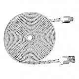 WANKY CELL Data Cable 3M Micro USB - White - Cable / Connector Usb