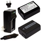WASABI POWER 2pack Power Battery and charger for NP. FW50 (Merchant) - Camcorder Power Adapter and Charger